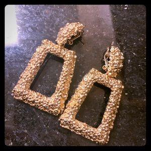 Zara statement gold earrings